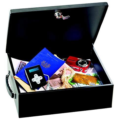 Master Lock Caja Fuerte Pequeña Con Llave, Manejar 7149EURD Caja de seguridad para Pequeña, Smarphone, A4 Documentos