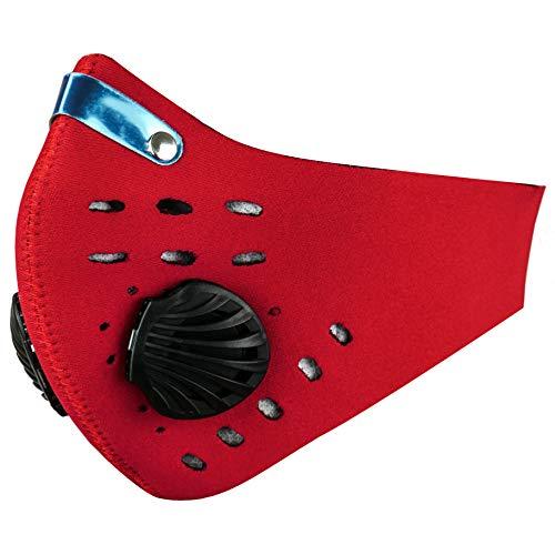 PrimeMatik BJ088-VCES Neoprenmaske für Mund und und Nase für Motorradfahrer und Skifahrer, Rot (BJ088), Erwachsene, Unisex, ünika