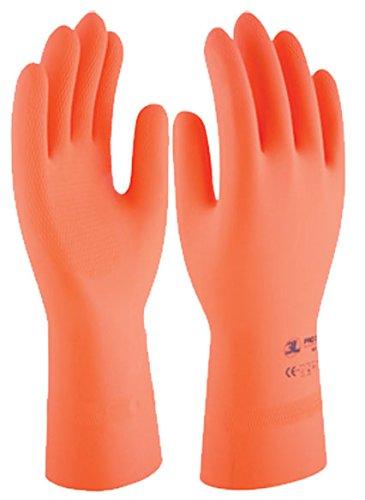 3L Internacional. Protex 3121 T-8 - Guante quimico m08-32cm nat. floc. protex latex nar 3l