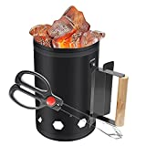 URJEKQ Charcoal Chimney Starter BBQ Chimney Lighter Coal Burner Quick Coal Starter for Barbecue Outdoor Cooking