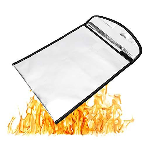 KASD Bolsa para archivadores, Bolsa ignífuga Resistente a Altas temperaturas, súper Aislamiento térmico para Coche de Oficina en casa, Caja de Seguridad contra Incendios, gabinete de