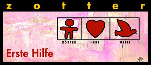 """Zotter """"Erste Hilfe"""" - Weißer Nougat mit roten Nüssen, 2er Pack (2 x 70 g) - Bio"""