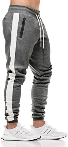 FLYFIREFLY Men s Gym Sport Pants Bodybuilding Workout Running Jogger Slim Fit Sweatpants Dark product image
