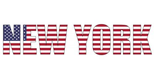 Samunshi® Wandtattoo New York Schriftzug Wandaufkleber USA in 8 Größen (30x6,7cm)