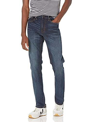 Amazon Essentials Slim-fit Stretch Jean Jeans, Azul (Dark Wash), W28 L28 (Talla del fabricante: 28W x 28L)
