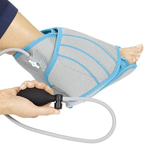 Vive Compression Ankle Ice Wrap Cold Therapy For Foot Pain Relief Circulation Cool Hot Gel Compress product image