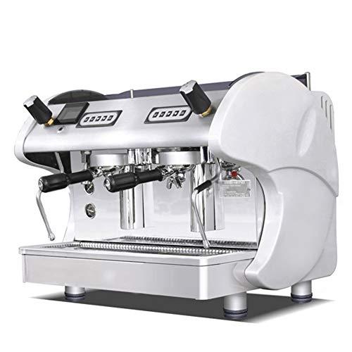 Unbekannt Kaffeemaschine Italienische Halbautomatische Doppelkaffeemaschine Hochdruck Dampf Espressomaschine Ladenausstattung,White