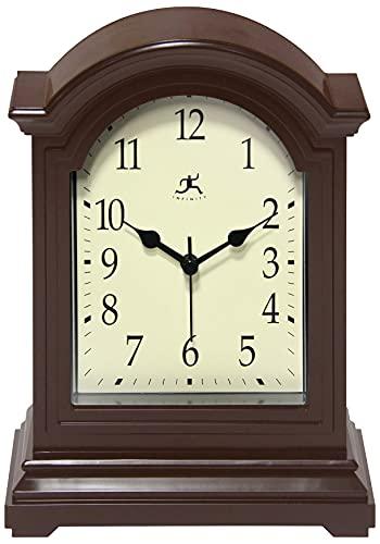 무한도구 브라운 골동품 할아버지 테이블탑 시계 9 X 6 맨틀 테이블탑 시계 미니 데스크탑 테이블 맨텔 장식 빈티지 거실 장식
