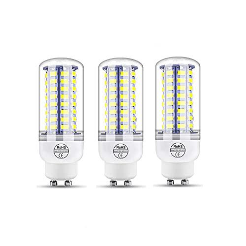 GU10 LED lampada di mais 220V illuminazione domestica risparmio energetico a risparmio di mais lampadine a candela lampadario lampadario illuminazione luce flowlight lampadina, 3 pz,Warm white,56leds