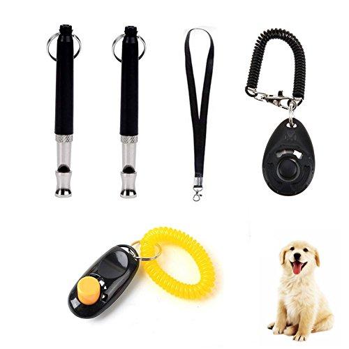 Wondder Sifflet Pet Training Clicker Pitch Réglable avec Sangle de Lanière Pet Dog Fournitures de Formation