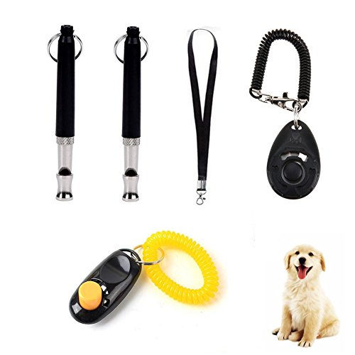 Wondder Fischietto Ultrasonico per Cani Pitch Regolabile di Addestramento Dell'animale Domestico Clicker con Lanyard Strap Pet Dog Forniture per l'addestramento
