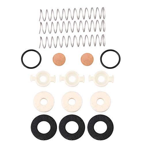 Mxfans 16Pieces Trumpet Tuning Slide O Ring Valve Guides with Felt Pad Kit