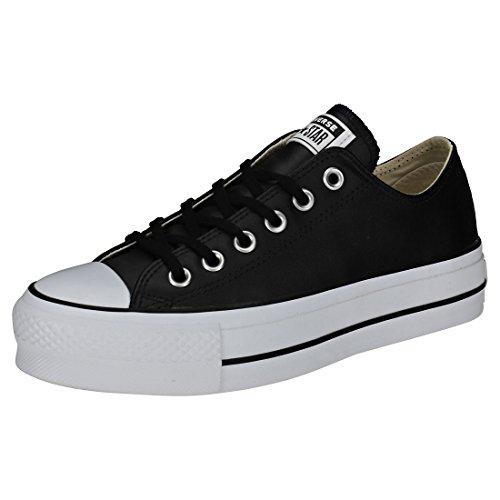 Converse Ctas Lift Clean Ox, Scarpe da Ginnastica Basse Donna, Nero (Black/Black/White 001), 35 EU