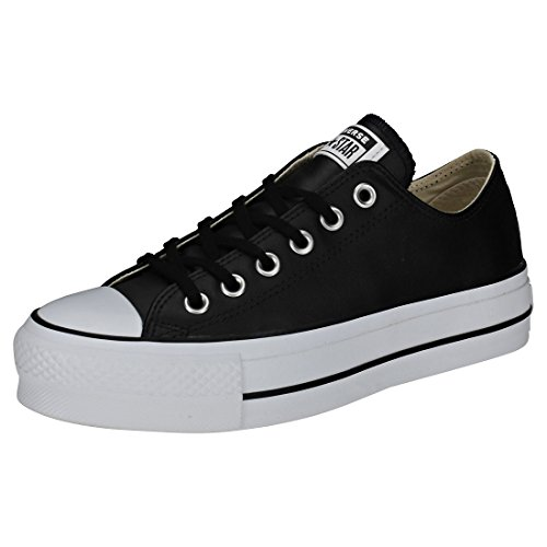 Converse Damen Chuck Taylor All Star Lift CLEAN Sneakers, Schwarz (Black/Black/White 001), 38 EU