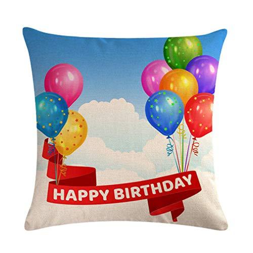 Nunubee Funda de Cojine Lino 45 x 45 Funda de Almohada Sofá Sala de Estar Dormitorio Cama Decorativos, Regalo de cumpleaños