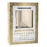 TWEEZERMAN Studio Collection Slant Tweezer & pouch,CHAMPAGNE TOAST ,1er Pack (1 x 600 g)