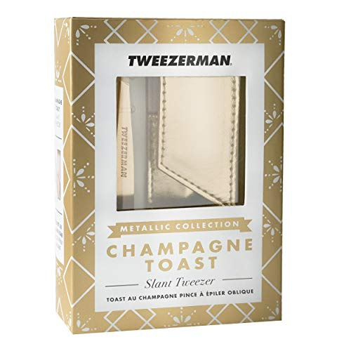 TWEEZERMAN Studio Collection Slant Tweezer & pouch,CHAMPAGNE TOAST ,1er Pack (1 x 600 g)
