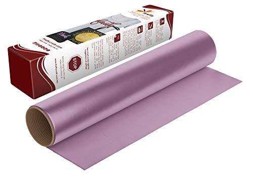 Firefly Craft Regular Lavender Heat Transfer Vinyl Sheet | Lavender HTV Vinyl | Lavender Iron On Vinyl for Cricut and Silhouette | Heat Press Vinyl for Shirts - 12' x 20'