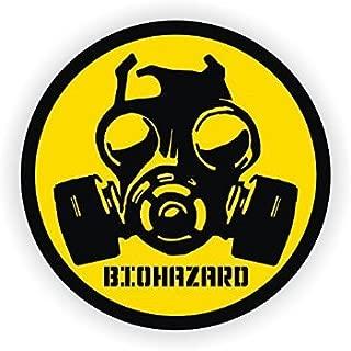 Biohazard Gas Mask Symbol Hard Hat Sticker / Helmet Decal Label Lunch Tool Box