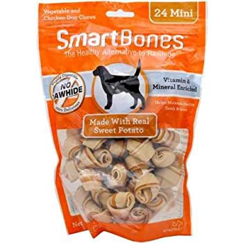 SmartBones SBSP-02002 Mini Sweet Potato Chews  24 Pack