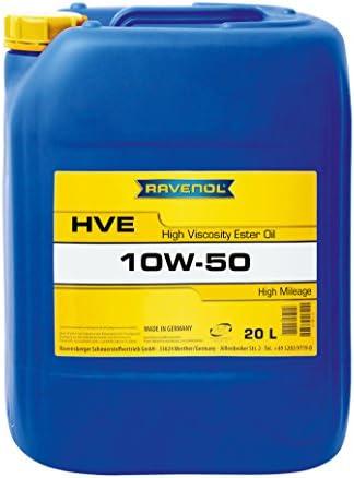Ravenol Hve Sae 10w 50 10w50 Vollsynthetisches Motoröl Für Hohe Laufleistung Ab 100 000 Km 20 Liter Auto