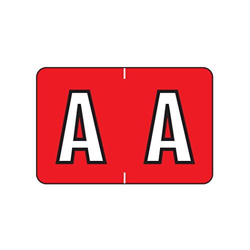 AMZfiling Alphabetic Color Coded Labels- Letter A, Red, Barkley ABKM and Sycom Compatible (Polylaminated, 500/Roll)
