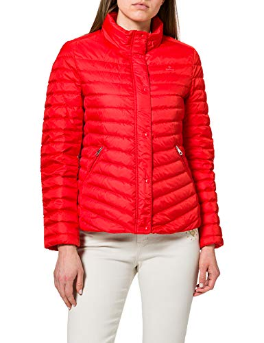 GANT Jacket Chaqueta Light Down, rojo lava, M para Mujer