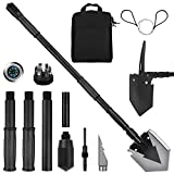 Yeacool Camping Shovel 38'', with Pickaxe, Survival Folding Spade, Tactical Heavyduty Multitool, Military Compact Shovel for Off-Roading, Entrenching, Car Emergency, Outdoor