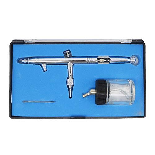 MOMIN Apagado Kit de aerógrafo Cepillo de Aire de Doble acción Pen Gravedad Feed Cepbrush para Maquillaje Arte Craft Decorating Modeling Herramienta para la decoración de Pasteles