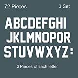 Fanbay 78 Pieces 2 Inch Iron On Letters A to Z Heat Transfer Letters Paper for Clothing Sport Jersyes T Shirts Team Name(White)