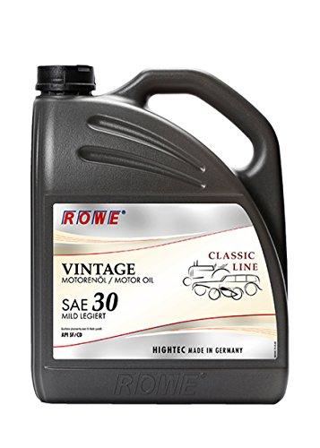 ROWE - 5 Liter HIGHTEC VINTAGE SAE 30 MILD LEGIERT Motorenöl - PKW Motoröl mineralisch für Oldtimer und Youngtimer