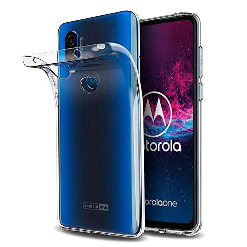 Capa Capinha Tpu Flexível Transparente Para Motorola Moto One Action de Tela 6.3Polegadas - Case Proteção Clear Ultra Fina - Danet (Transparente)