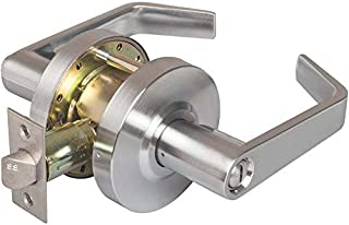 Commercial Cylindrical Lever Heavy Duty Non-Handed Grade 2 Door Handle (Privacy, Satin Chrome, 26D) - INOX BL-07 - UL 3 Hour Fire Rated & ADA Compliant