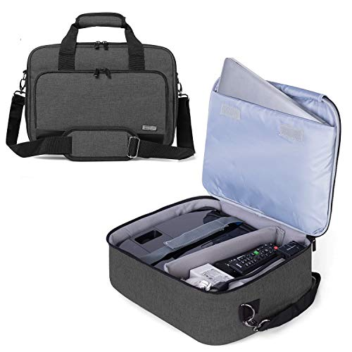 Luxja Projector Case, Projector Bag with Protective Laptop Sleeve, Projector Carrying Case with Accessories Pockets,Large(16 x 11.5 x 5.75 Inches), Black