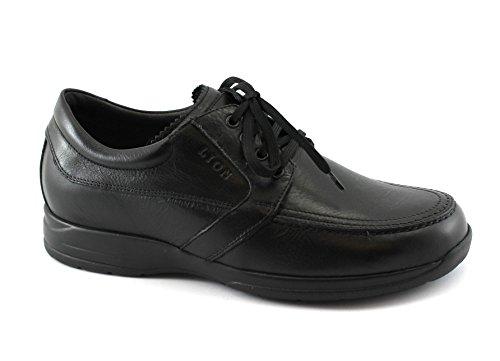 LION 8457 nero scarpe sneakers uomo confort antistatiche pelle lacci 43