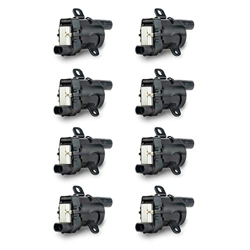 Ignition Coil Pack Set of 8 - Compatible with Chevrolet, GMC, Cadillac & Other GM Vehicles - V8 Silverado 1500, Tahoe, Suburban, Sierra, Yukon, XL, 2500 - Replaces 12563293, D585, C1251, 19005218