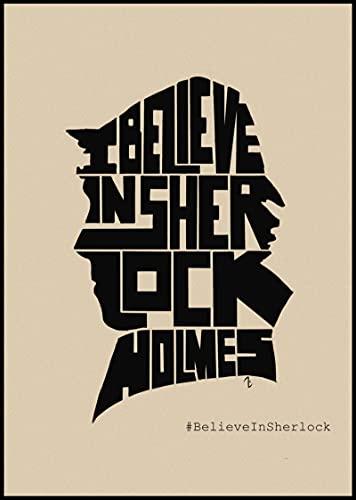 Weibing Sherlock Holmes Posters Película Lienzo Pintura Bar Cafe Shop Hogar Dormitorio Decoración y colección de Ventiladores 50X70 Cm (19.68X27.55 in) Q-986