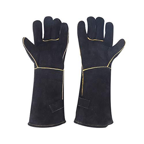 Guantes de cocina para hombres y mujeres, guantes resistentes al calor y al fuego, guantes para quemadores de leña, perfectos para chimenea,estufa,horno,parrilla,soldadura,barbacoa,soporte para ollas