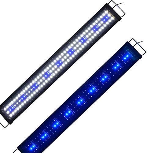 Powerdelux LED Aquarium Beleuchtung, Aquarium LED Lampe mit Mondlicht, LED Licht für Süßwasser-Aquarien (90-120cm)