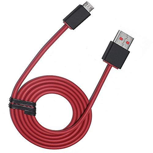 USB-auf-Micro-USB-Ladekabel/Draht für Beats von Dr. DRE - Ersatz-Ladekabel für Beats Studio 1, 2, 3 kabellose Kopfhörer, Solo Wireless - Pillen-Lautsprecher 1/2 - PowerBeats 2, 3 Kopfhörer rot