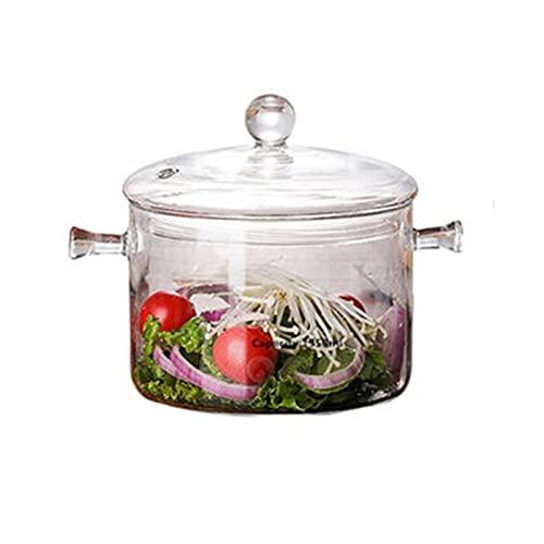 DONGTAISHANGCHENG Sopa Creativa Olla de Vidrio Transparente Ensalada Ensalada de Fideos instantáneos Herramientas de Cocina Hecha a Mano Suministros de Cocina (Color : B)