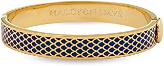 Halcyon Days, Salamander Navy Enamel & Gold Hinged Bangle / Bracelet
