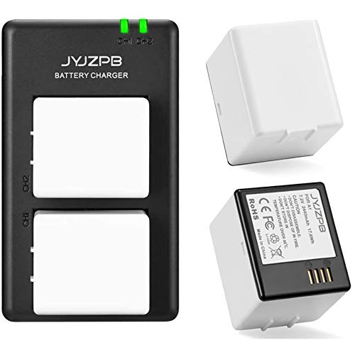 JYJZPB 2-Packs Rechargeable Battery Compatible with Arlo Pro, Arlo Pro 2 VMA4400, and Dual LCD Charger for Arlo Pro, Arlo Pro 2, and Arlo Security Light Batteries