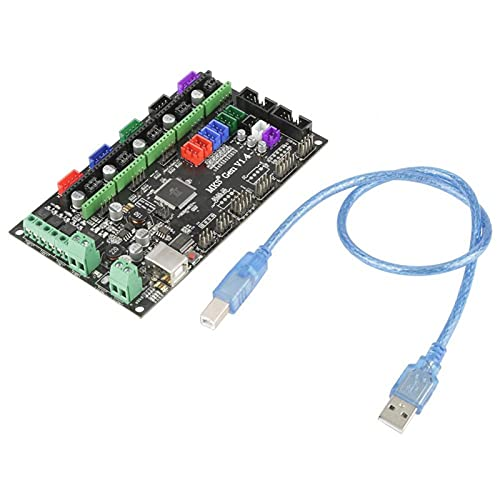 RAMPS 1.4, 3D Printer for RepRap RAMPS 1.4 Mainboard Control Board Module with USB Cable Accessory Replacement