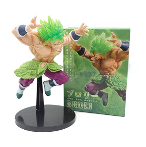 Yangzou Película Dragon Ball Z Super Broly Figura De Juguete 22 Cm,Super Saiyan Green Roaring PVC Figura De Acción Juguetes para Bebés Juguetes para Mascotas