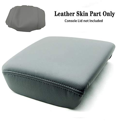 DSparts Center Console Lid Armrest Cover Leather for Honda Ridgeline Truck 2006-2014 Gray Leather Part Only
