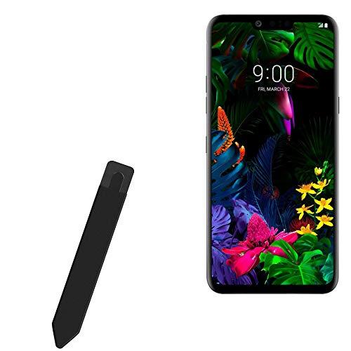 BoxWave Smart Gadget para LG G8 ThinQ [Stylus PortaMang] Portador de caneta portátil autoadesivo para LG G8 ThinQ – Preto