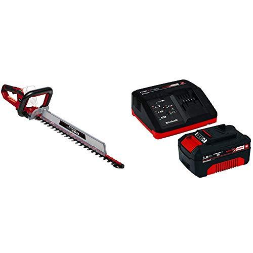 Einhell Akku-Heckenschere GE-CH 18/60 Li Power X-Change (Li-Ion, 18 V, 67 cm Schwertlänge, 60 cm Schnittlänge, 22 mm Zahnabstand, Metallgetriebe, inkl. 3 Ah Akku und Ladegerät)