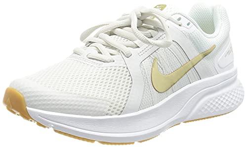 Nike Run Swift 2, Running Shoe Mujer, Platinum Tint/Metallic Gold Star-White-Gum Light Brown, 39 EU