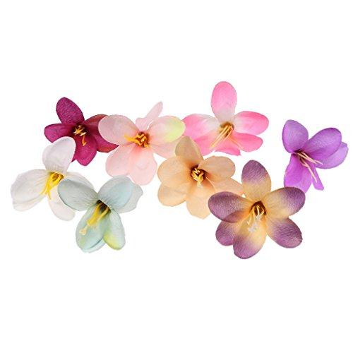 10 piezas de flores artificiales de seda de color mezclado para manualidades, cómodo y respetuoso con el medio ambiente